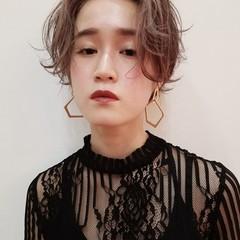 ショートボブ ショート ハンサムショート 春 ヘアスタイルや髪型の写真・画像