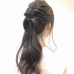 上品 ヘアアレンジ 夏 エレガント ヘアスタイルや髪型の写真・画像