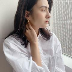 髪質改善トリートメント 暗髪バイオレット ミディアム イルミナカラー ヘアスタイルや髪型の写真・画像