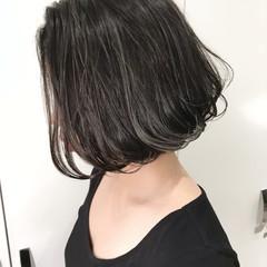 色気 ボブ 外国人風カラー ナチュラル ヘアスタイルや髪型の写真・画像