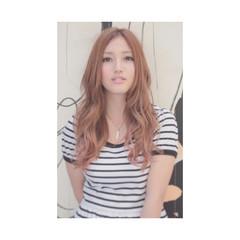 ロング 外国人風 フェミニン ゆるふわ ヘアスタイルや髪型の写真・画像