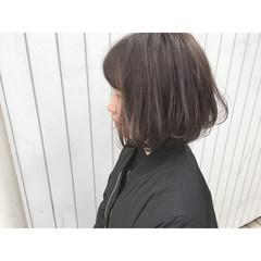 ボブ フェミニン ストリート 暗髪 ヘアスタイルや髪型の写真・画像