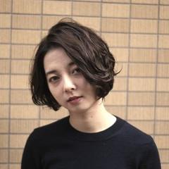 モード 暗髪 ボブ 黒髪 ヘアスタイルや髪型の写真・画像