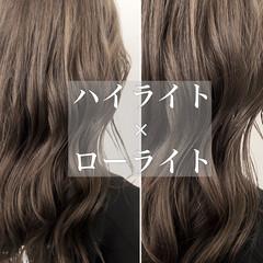 ハイライト グレージュ イルミナカラー ロング ヘアスタイルや髪型の写真・画像