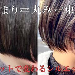 大人かわいい デート アンニュイほつれヘア ミニボブ ヘアスタイルや髪型の写真・画像