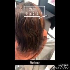 大人可愛い ガーリー ミニボブ アプリコットオレンジ ヘアスタイルや髪型の写真・画像