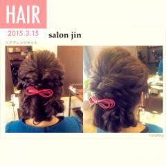 モテ髪 編み込み 愛され くるりんぱ ヘアスタイルや髪型の写真・画像
