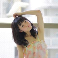 パーマ ゆるふわ ミディアム デジタルパーマ ヘアスタイルや髪型の写真・画像
