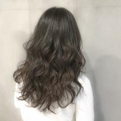 アッシュ 外国人風 セミロング 黒髪 ヘアスタイルや髪型の写真・画像