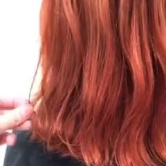 ガーリー ボブ ダブルカラー オルチャン ヘアスタイルや髪型の写真・画像