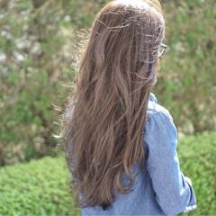 外国人風カラー ナチュラル グレージュ ミルクティーベージュ ヘアスタイルや髪型の写真・画像