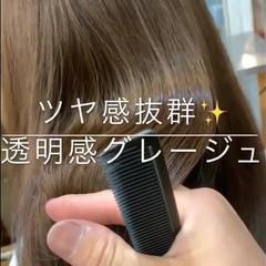 フェミニン オフィス モテ髪 透明感 ヘアスタイルや髪型の写真・画像