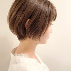 ショートボブ デート ショート 大人かわいい ヘアスタイルや髪型の写真・画像