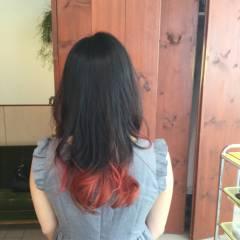 伸ばしかけ ミディアム セミロング ストリート ヘアスタイルや髪型の写真・画像