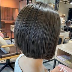 ミニボブ モテボブ ショートボブ ストレート ヘアスタイルや髪型の写真・画像