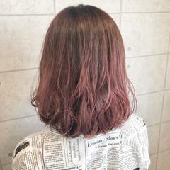 イルミナカラー グラデーションカラー ピンクラベンダー クリーミーカラー ヘアスタイルや髪型の写真・画像