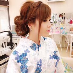 ショート セミロング 簡単ヘアアレンジ 夏 ヘアスタイルや髪型の写真・画像