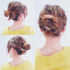 セルフヘアアレンジ 簡単ヘアアレンジ ロング ヘアアレンジ ヘアスタイルや髪型の写真・画像