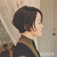 ショート 外国人風 冬 黒髪 ヘアスタイルや髪型の写真・画像