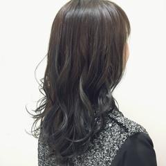 暗髪 ミディアム ストリート アッシュ ヘアスタイルや髪型の写真・画像