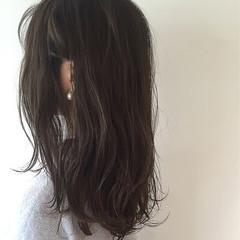 外国人風カラー 外国人風 大人かわいい ミディアム ヘアスタイルや髪型の写真・画像
