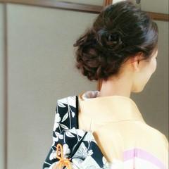 着物 大人かわいい ロング 和装 ヘアスタイルや髪型の写真・画像