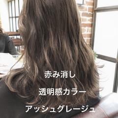 デート パーマ デジタルパーマ アッシュグレージュ ヘアスタイルや髪型の写真・画像