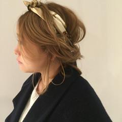 ヘアアクセ ゆるふわ 簡単ヘアアレンジ ヘアアレンジ ヘアスタイルや髪型の写真・画像