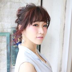ベージュ ヘアアレンジ エレガント 大人女子 ヘアスタイルや髪型の写真・画像