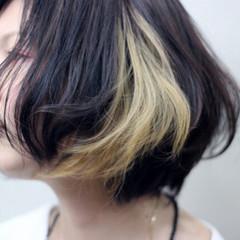 外国人風 ボブ フェミニン ハイライト ヘアスタイルや髪型の写真・画像