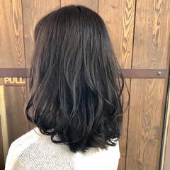 ミディアム ナチュラル 春 暗髪 ヘアスタイルや髪型の写真・画像