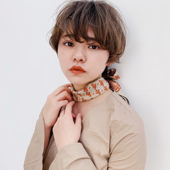 ショート ミニボブ ショートボブ ガーリー ヘアスタイルや髪型の写真・画像