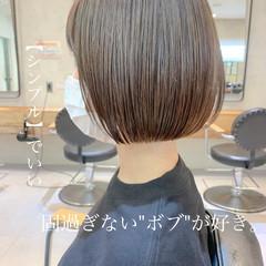 ショートヘア ボブ ナチュラル ショートボブ ヘアスタイルや髪型の写真・画像