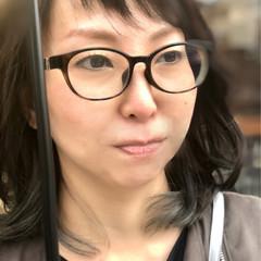 外国人風カラー イルミナカラー ミディアム インナーカラー ヘアスタイルや髪型の写真・画像