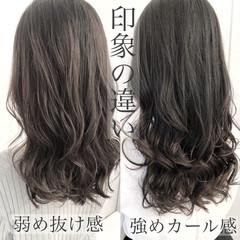 アッシュ ヘアスタイル デジタルパーマ ナチュラル ヘアスタイルや髪型の写真・画像