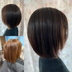 モード ボブ ショートヘア 髪質改善 ヘアスタイルや髪型の写真・画像