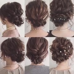 編み込み ロープ編み ヘアアレンジ 結婚式 ヘアスタイルや髪型の写真・画像