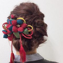 成人式 謝恩会 ヘアアレンジ ガーリー ヘアスタイルや髪型の写真・画像