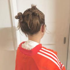 フェミニン ヘアアレンジ ボブアレンジ お団子アレンジ ヘアスタイルや髪型の写真・画像