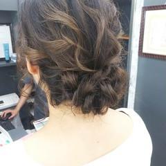 結婚式 ミディアム ヘアセット 浴衣アレンジ ヘアスタイルや髪型の写真・画像