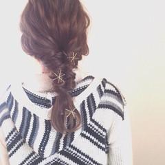 くるりんぱ 簡単ヘアアレンジ ヘアアクセ ナチュラル ヘアスタイルや髪型の写真・画像