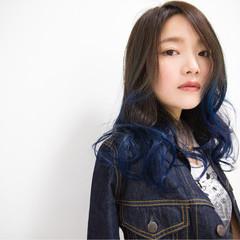 ストリート ロング グラデーションカラー 外国人風 ヘアスタイルや髪型の写真・画像