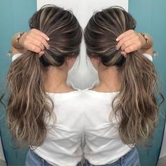 セミロング 外国人風 グレージュ 外国人風カラー ヘアスタイルや髪型の写真・画像