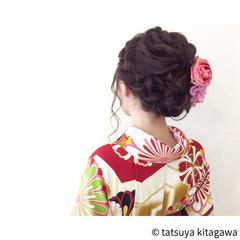 セミロング 結婚式 フェミニン 二次会 ヘアスタイルや髪型の写真・画像