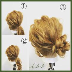 結婚式 簡単ヘアアレンジ セミロング ナチュラル ヘアスタイルや髪型の写真・画像