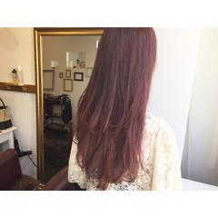 透明感 外国人風 ロング ラベンダーピンク ヘアスタイルや髪型の写真・画像