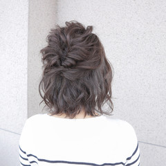 ヘアアレンジ デート 色気 ボブ ヘアスタイルや髪型の写真・画像