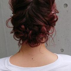 結婚式ヘアアレンジ 切りっぱなしボブ ヘアアレンジ 簡単ヘアアレンジ ヘアスタイルや髪型の写真・画像