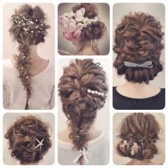 ロング 結婚式 ヘアアレンジ コンサバ ヘアスタイルや髪型の写真・画像