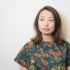 大人かわいい 外国人風 ナチュラル アッシュ ヘアスタイルや髪型の写真・画像